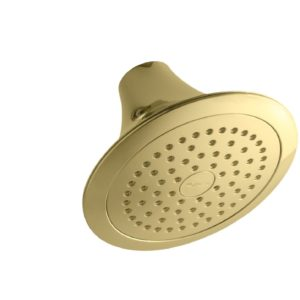 KOHLER K-10282-PB Forte Single-Function Showerhead, Vibrant Polished Brass