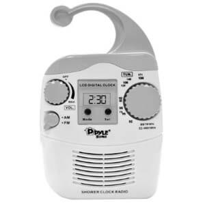 Pyle Home PSR6 Waterproof Shower Clock Radio