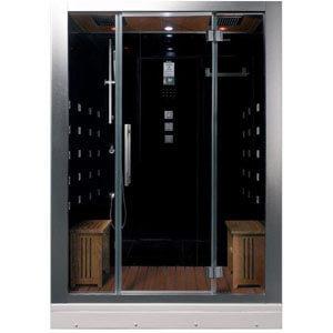 ARIEL Platinum DZ972-1F8-BLK Black Steam Shower