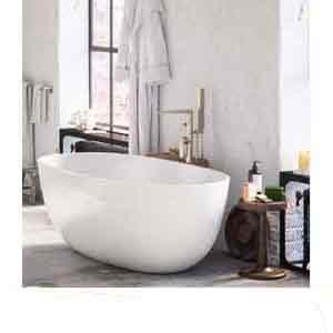 """MAYKKE-Barnet-61""""-Acrylic-Freestanding-Bathtub"""