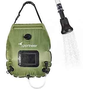 Sportneer Solar Camping Shower Bag