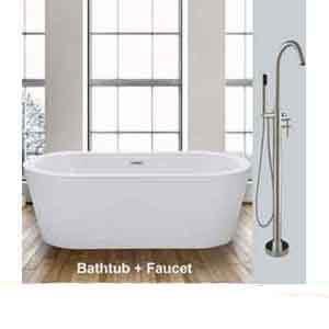 "WOODBRIDGE-BTA-1506-59""-Acrylic-Freestanding-Bathtub"