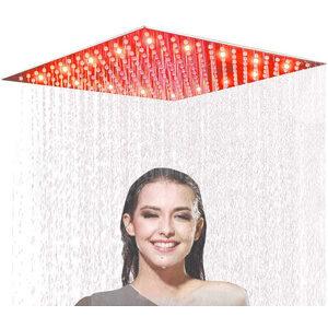 Suguword 16 Inch Rain Shower Head Square Brushed Nickel